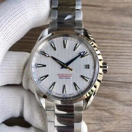 Wholesale 41 mm Automatic Movement Stainless Steel Bracelet Aqua Terra m Master MAN WATCH Wristwatch