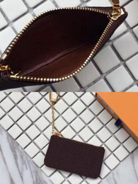 Wallet Zip NZ - Free Shipping Key Pouch zip Brand Wallet Coin Storage Wallets Women designer convenient purse wallets 62650