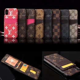Card Inserts NZ - Monogram Leather Mobile Phone Case Shell For Iphone XS Max XR X 8 7 6 Plus Anti-scrach Insert Card Holder Case