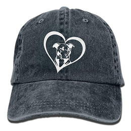 e6a95f23b64 2019 New Custom Baseball Caps Print Hat Pit Bull Heart Mens Cotton  Adjustable Washed Twill Baseball Cap Hat