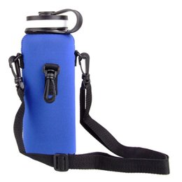 Wholesale Sports Drink Water Bottle Protector Cover Bag Durable Portable Zipper Water Bottle Pouch Holder Carrier With Adjustable New