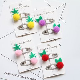 bb cute NZ - New Cute ball Fruit Baby Headdress Girls Hairpins Kids BB Hair Clips Children Hair Accessories