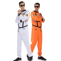 $enCountryForm.capitalKeyWord Australia - Astronauts Mens Cosplay Clothes With Belt Halloween and Fancy Dress Party Clothes Fashion Homme Stage Wear