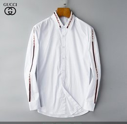 Wholesale mandarin shirt men online – design NIGRITY Spring Men s Fashion Classic Comfortable Casual Long Sleeve Business Shirt Man Formal Shirt Plus Size S Size XL