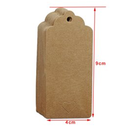 kraft gift tags UK - 3 Sizes 100 Pcs Kraft Paper Colorful Blank Card Hang Tags Party Favor Gifts Crafts Price Paperboard Packaging Label Paper Card Hand Draw Tag