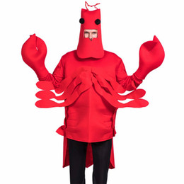 $enCountryForm.capitalKeyWord Australia - Adult Red Lobster Costume for Party Loose Animal Cosplay Pyjama Eraspooky Men Christmas Halloween Carnival Cosplay Costume Stage Show