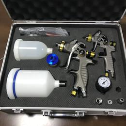 Weta HVLP spray paint gun 931g+mini 931g 1.3mm+1.0mm Airbrush spray gun for painting car Pneumatic tool sprayer RUSSIA 7-15DAYS