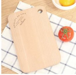 Cleaning Blocks Australia - 1 Pcs No paint beech wood fruit bread natural chopping block Sushi board Kitchen Antibacterial easy clean food cutting board
