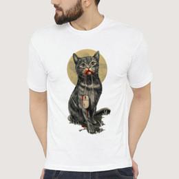 0222755c Shirt Design Modal Australia - Mouse t shirt Cat eat mice short sleeve gown  Funny design