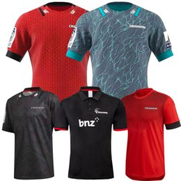 rugby big NZ - 2020 New Zealand Super Rugby Jerseys Crusaders home jersey League rugby training shirt CRUSADERS rugby Jersey big size s-5xl