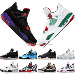 $enCountryForm.capitalKeyWord NZ - New 2019 Newest Bred 4 4s What The Cactus Jack Laser Wings Mens Basketball Shoes Denim Blue Eminem White Cement Men Sports Designer Sneakers