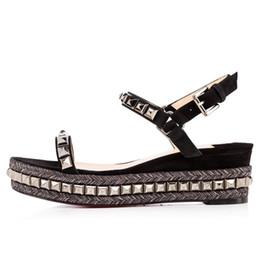 Black flat platform strap sandals fashion online shopping - red bottom cm cm Designer Luxury sandals size platform flat leather shoes luxury sandals with box size women fashion shoes