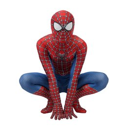 spandex jumpsuit men NZ - hot selling Adult Kids Spider-Man 3 Raimi Spiderman Cosplay Costume Zentai Superhero Bodysuit Suit Jumpsuits free shipping