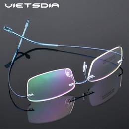 3ddb272e054 2019 New Fashion Titanium Eyeglasses Frames Rimless Flexible Optical Frame  Prescription Spectacle Frameless Glasses Eye glasses