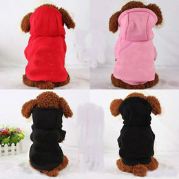 Costumes Clothes Australia - 100% Cotton Pet Puppy Dog Clothes for Small Dog Coat Hoodie CC Sweatshirt Costumes Dogs Jackets XS-XXL 3 Colors