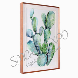 decorative arts UK - Sleek Aluminum Wood-Like Picture Frame Calligraphy and Painting Decorative Frame Art Exhibition Display Box (E09A3M H42mm)