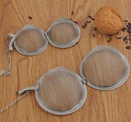 201 304 Edelstahl Tee-Ei 4,5 cm / 5,5 cm / 7 cm / 9 cm Teekanne Infusers Sphere Mesh Teesieb Ball Epacket im Angebot