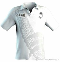 men white polo NZ - Fiji 7s 2018 19 Players Rugby Polo Shirt 2017-2018 Fiji Rugby Jersey White 16 17 maillot Maglia Adults Men alternative shirts Size S-3XL