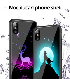 $enCountryForm.capitalKeyWord Australia - MIYA Night Luminous Light cell phone case Tempered Glass Back Cover Soft TPU side Cell Cases For Iphone XS Max X 8 7 Plus