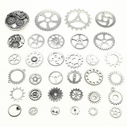 $enCountryForm.capitalKeyWord Australia - 300Gram Mix Designs Antique Silver Color Zinc Alloy Gear Charms Pendant Jewelry Accessories
