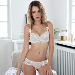 28f4a2efa2 france Women intimates Bra Set Sexy Lace Floral Push Up Bra and Panties  lace underwear Lingerie Underwear Brand Clothing