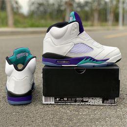 Fresh Prince Fashion Australia - NRG Fresh Prince Basketball Shoes 5 No Shoelace Purple Grape Fashion Leading Brand Designer TOP Mens Sports Sneakers