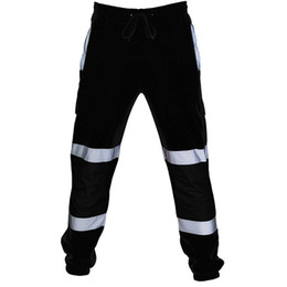 Road woRking online shopping - FeiTong Skinny Sweatpants Men Road Work High Visibility Overalls Pocket Work Casual Trouser Hip Hop Streetwear Sport Pants Men