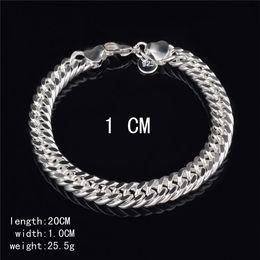 $enCountryForm.capitalKeyWord Australia - New Design 6MM 8MM 10MM 925 Sterling silver Figaro chain bracelet Fashion Men's Jewelry Top quality free shipping KKA3763