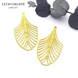 Brass Leaf Charms Australia - Handmade Jewelry Making Supplies Pendant Cut Metal Raw Brass Geometric Leaf Charm For DIY Necklace Earring Brooch RD229 4