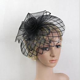 $enCountryForm.capitalKeyWord Australia - Mesh boutique banquet hat European and American bride headdress Hairband