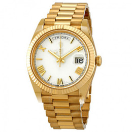 China 41mm White Dial Automatic glide smooth 18K Yellow Gold Automatic Watch Scratch resistant sapphire crystal wholesale top quality wristwatch cheap blue dial luxury watches suppliers
