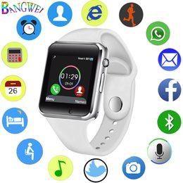 $enCountryForm.capitalKeyWord Australia - Bangwei 2018 New Women Men Smart Watch Sim Tf Smart Phone Call Music Player Led Sport Smart Watch Sleep Monitor For Android+box Y19052001