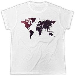 Cotton World Map Australia - GALAXY WORLD MAP COOL FASHION IDEAL GIFT BIRTHDAY PRESENT UNISEX MENS TSHIRT