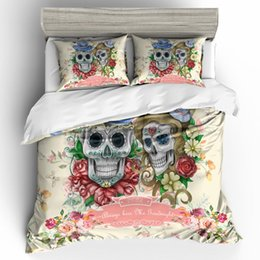 $enCountryForm.capitalKeyWord Australia - Thumbedding Dropship Unique Designed Love Couple Skulll Bedding Sets 3D Duvet Cover Set Twin Full Queen king Size Colorful Bed Set