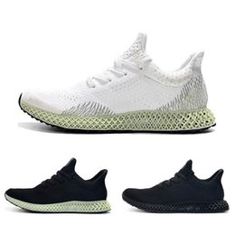 Men Trainer Running Shoes Gold UK - New Futurecraft 4D Men Black White Athletic Shoes Fashion Designer Alphaedge Ash Grey Onix Aero Running Sports Sneakers Trainer Shoes 40-45