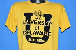 $enCountryForm.capitalKeyWord Canada - vintage 70s UNIVERSITY OF DELAWARE BLUE HENS UD t-shirt COLLEGE FOOTBALL LARGE LFunny free shipping Unisex Casual