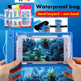 Wholesale Waterproof bag PVC Protective Mobile Phone Bag Diving Swimming Sports For iphone plus xs xr HUAWEI Samsung Universal size below inch