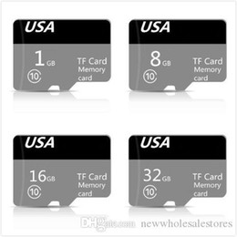 tf memory cards 1gb Australia - UK Wholesale #173 Genuine Capacity DZ New Micro FLash Memory Card Class 10 TF FULL CAPACITY 32GB 16GB 8GB 1GB