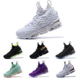 e92d47e297d40 Discount red lebron shoes - High Quality 2019 Lebron 15 White Metallic Gold  Mens Basketball Shoes