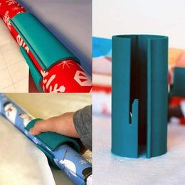 shoe storage diy Canada - Plastic Sliding Paper Cutter Roll Paper Packing Cortes The Prefect Line Every Time Christmas Gift DIY Holiday Hand Tools