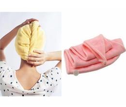 $enCountryForm.capitalKeyWord NZ - Absorbent Microfiber Hair Wrap Towel Drying Bath Spa Head Cap Turban Wrap Twist Quick Dry Shower Caps Bathrobe Hat