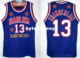 $enCountryForm.capitalKeyWord UK - Retro Top #13 WILT CHAMBERLAIN HARLEM GLOBETROTTERS JERSEY NEW BLACK BLUE ANY SIZE S - 4XL high quality embroidery Jerseys NCAA