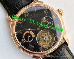 $enCountryForm.capitalKeyWord NZ - V6 Top Luxury Watch Real Tourbillon Moonphase Power Reserve Rose Gold Black Dial Black Leather Strap Swiss Manual Winding Men Watch