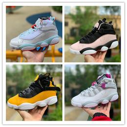 2019 Recién llegado de Alta calidad 6 6 s anillos de baloncesto de las mujeres zapatos negro amarillo Hielo azul whitepink blackpink para mujer 6 s Sports Designer Sneakers en venta