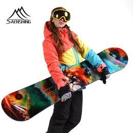 $enCountryForm.capitalKeyWord Australia - SAENSHING Women Ski Suit Winter Waterproof Thermal Skiing Suit for Women Ski Jacket Mountain Outdoor Snow Pants Cheap Set