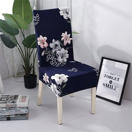 chinese dining 2020 - Chair Cover Elastic Pattern Chinese classical Ink Dining Chair Cover Sofa Bag Furniture Set Soft and flexible cheap chin