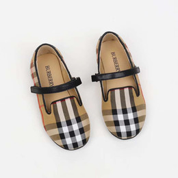 $enCountryForm.capitalKeyWord NZ - Kid girl shoes brown plaid classical summer walking athletic shoes for baby boy girl Eu 24-33 leather vamp + rubber sole high quality