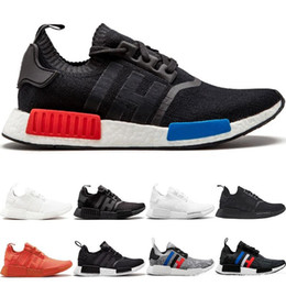 classic men sneakers Australia - 2019 NMD R1 Primeknit Running Shoes Men Women Triple Black White Og Classic Tri-Color Grey Oreo Japan Red Sports Sneakers 36-45