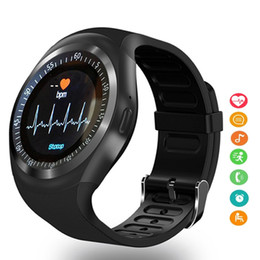 Bluetooth Smart Watch Sim Australia - Sport Y1 Bluetooth Smart Watch Android With Shake Hand Wake Up Screen Support Facebook Whatsapp TF SIM Smartwatch