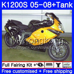 fairing bmw k Australia - Body +Tank For BMW Golden black K1200 S K 1200 S K1200S 05 06 07 08 09 10 311HM.29 K-1200S K 1200S 2005 2006 2007 2008 2009 2010 Fairings